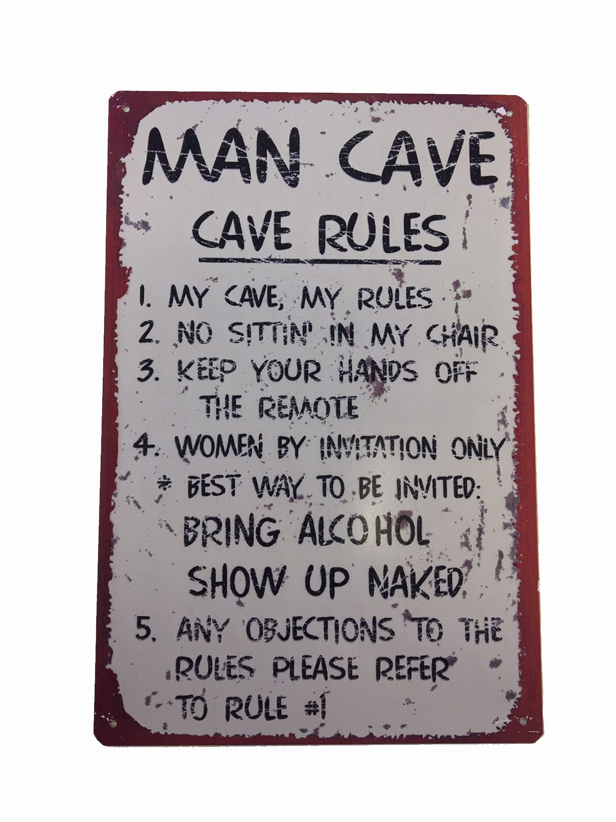 Man Cave Signs Metal : Man cave wall sign