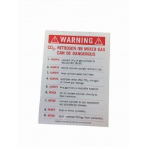 CO2 warning card